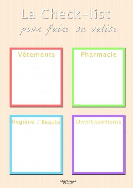 La checklist pour faire sa valise et ne rien oublier avant de partir ! A télécharger sur lutetiaflaviae.com