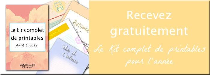 Recevez gratuitement le kit complet de printables pour l'année composé de plus de 60 listes sur le thème des saisons à télécharger sur lutetiaflaviae.com