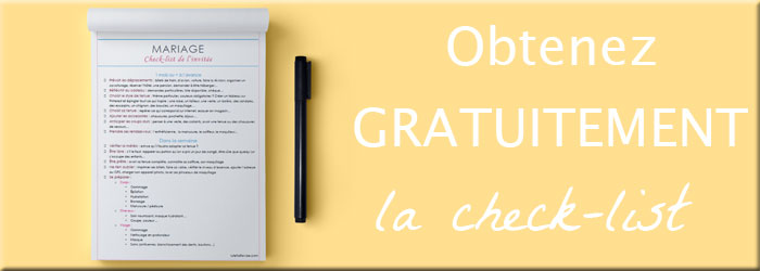 Recevez GRATUITEMENT la check-list de l'invitée à un mariage sur lutetiaflaviae.com