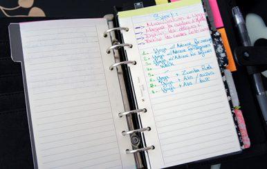 Ma to-do list dans mon agenda personnalisé