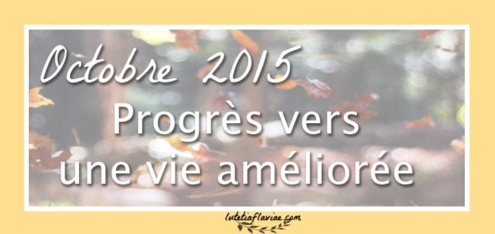 Améliorer son quotidien - les progrès d'Octobre 2015 vers une vie meilleure sur lutetiaflaviae.com
