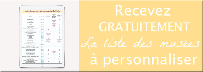 Recevez gratuitement ma liste des musées de Paris gratuits sur lutetiaflaviae.com