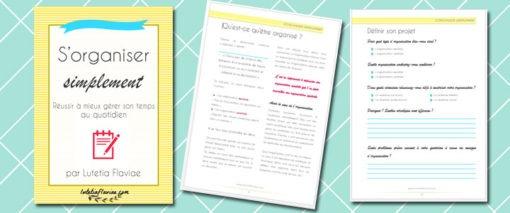 Extraits du livre numérique (ebook) S'organiser simplement de Lutetia Flaviae en vente sur lutetiaflaviae.com
