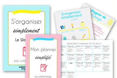 Pour l'achat de l'ebook S'organiser simplement, recevez gratuitement le workbook, les infographies pour tout retenir, mes ressources et mon plan pour apprendre à s'organiser facilement ! A découvrir sur lutetiaflaviae.com