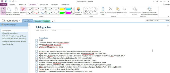 L'interface colorée de OneNote est plus agréable que celle d'Evernote. Découvrez les autres avantages et mon utilisation de l'appli sur lutetiaflaviae.com