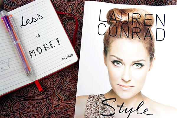Mes nouveautés de Mai 2016 : mon carnet de leçons de vie et le livre Style de Lauren Conrad ! Mes autres découvertes se trouvent sur lutetiaflaviae.com !