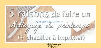 5 raisons de faire un nettoyage de printemps (+ checklist !)