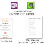 Pour l'achat de mon kit d'organisation maison, recevez la version A5 du kit, les versions digitales à télécharger pour les applications Evernote et OneNote et mon plan pour apprendre à gérer sa maison ! A découvrir sur lutetiaflaviae.com