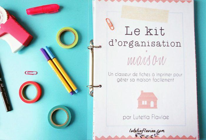 Astuces Organisation Maison #11: Le Kit Du0027organisation Maison De Lutetia Flaviae Est Un Classeur Maison Avec  103 Printables