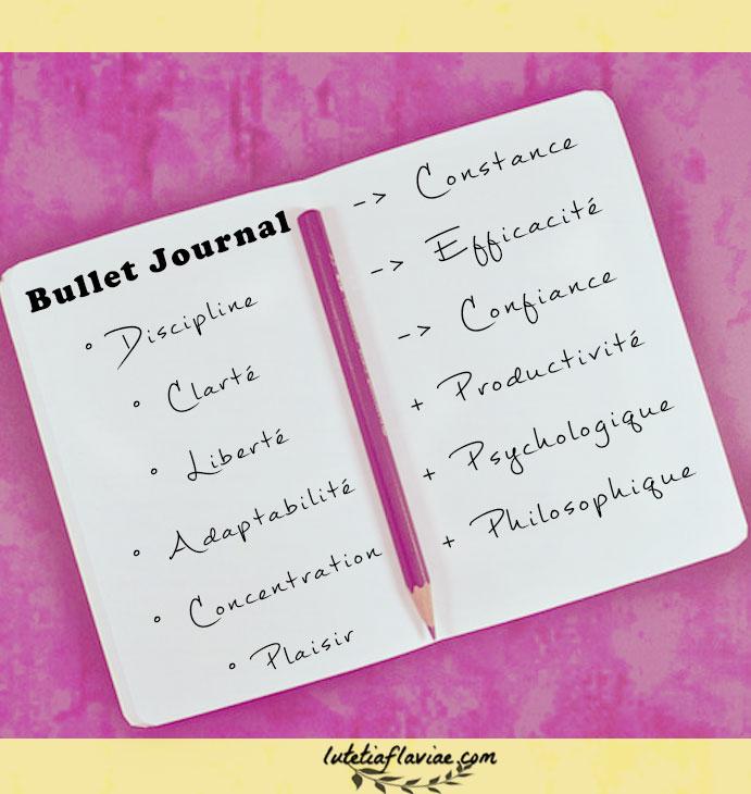 Découvrez tous les avantages qu'il y a à s'organiser avec le bullet journal sur lutetiaflaviae.com !