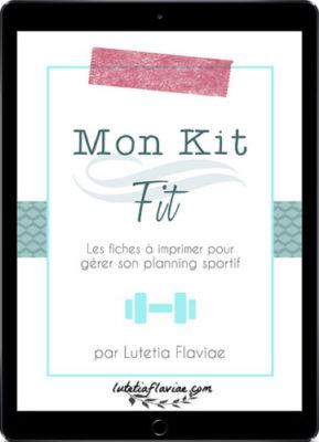 Mon Kit Fit est un ensemble de fiches (printables) pour s'organiser et se motiver à faire du sport. Gérez votre planning sportif facilement en l'achetant sur lutetiaflaviae.com !