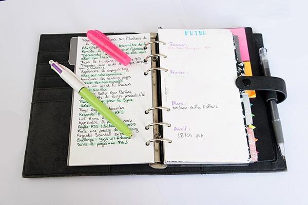 Mon agenda à la page du future log et des objectifs mensuel est un mélange entre le bullet journal et l'agenda traditionnel. Découvrez ma méthode sur lutetiaflaviae.com