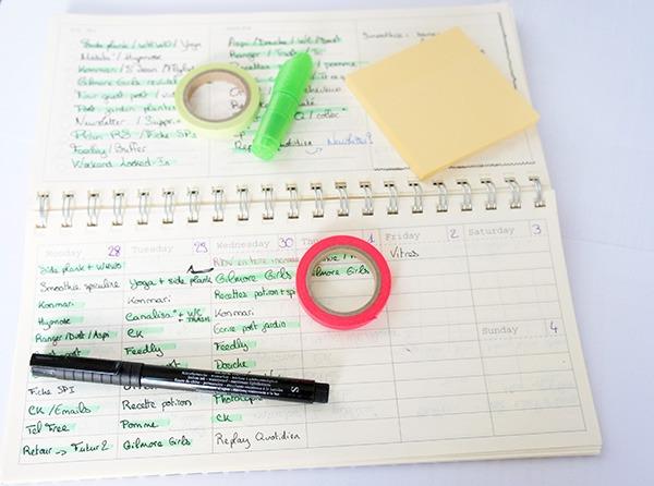 Exemple de mon organisation quotidienne avec mon semainier. Découvrez ma méthode personnelle sur lutetiaflaviae.com