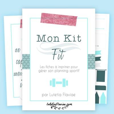Mon Kit Fit est un carnet d'imprimables pour planifier sa routine de sport. Que vous désiriez vous y mettre pour la première fois ou que vous ayez déjà de l'expérience, suivez vos progrès avec ces fiches à imprimer sur lutetiaflaviae.com
