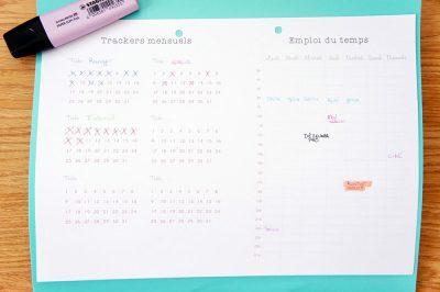 Extrait du Kit d'Organisation Maison disponible en version A4 et A5. Il contient notamment des trackers et des emploi du temps pour gérer tous ses projets et ses habitudes ! A découvrir sur lutetiaflaviae.com