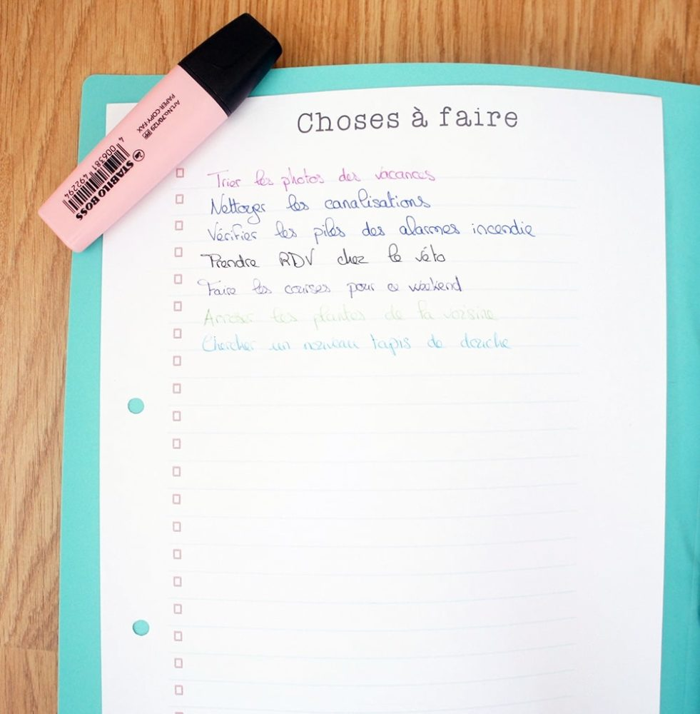 Le Kit d'Organisation Maison : Organiseur familial (non daté) 4
