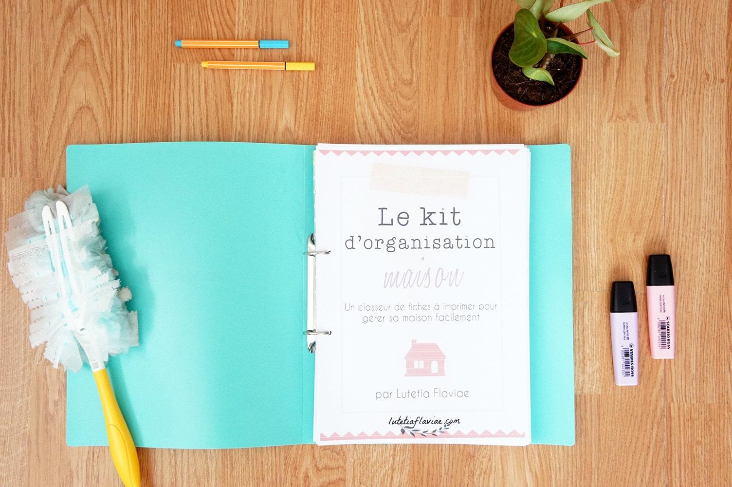 Le Kit d'Organisation Maison : Organiseur familial à imprimer (sans date) 1