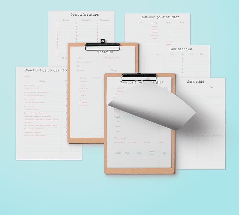 Outils : Kits de fiches et de plannings imprimables pour gérer son temps 1