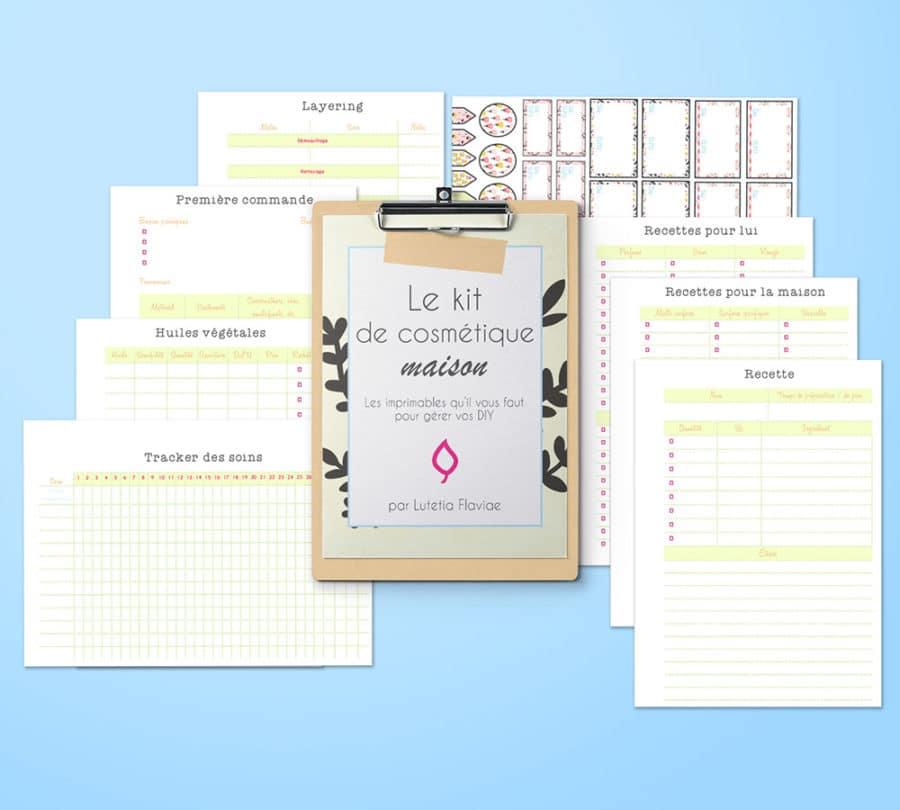Amusez-vous à fabriquer vos cosmétiques maison et organisez-vous simplement grâce à ce kit de 74 pages. Le kit de cosmétiques maison vous permettra de gérer vos recettes et vos productions maison. Que vous préfériez les soins beauté naturels, les produits ménagers, les remèdes santé slow, ce kit vous aidera à tout organiser ! Découvrez-le sur lutetiaflaviae.com !