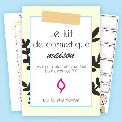 Le kit de cosmétiques maison est un outil composé de 70 imprimables pour vous aider à organiser vos DIY et remèdes maison. Gérez vos recettes, vos listes d'ingrédients et vos soins beautés avec ces fiches à imprimer sur lutetiaflaviae.com