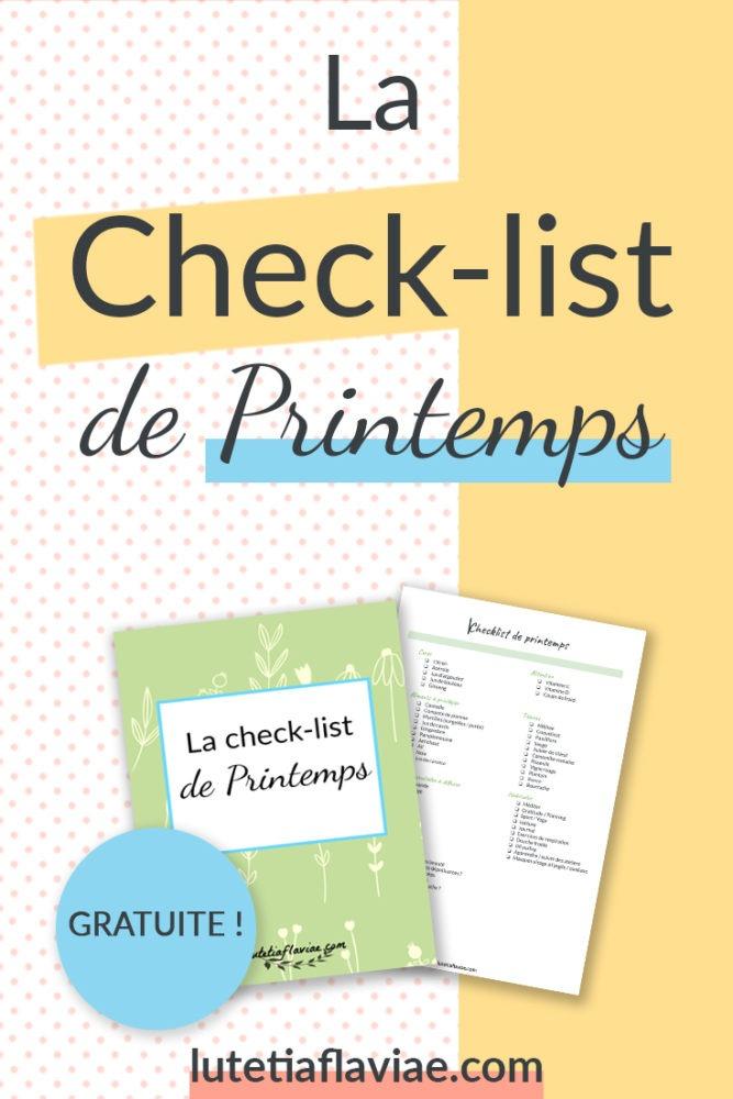 Obtenez gratuitement la check-list de printemps pour découvrir quelles bonnes habitudes garder au long de la saison. Cet imprimable est personnalisable et disponible dans la bibliothèque privée sur lutetiaflaviae.com