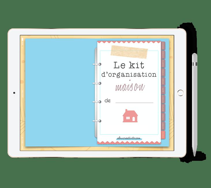 Le classeur numérique du Kit d'Organisation Maison est un digital planner pour s'organiser sur sa tablette, de préférence avec l'application Goodnotes. Vous obtiendrez une expérience interactive et créative sur slowcreativite.com