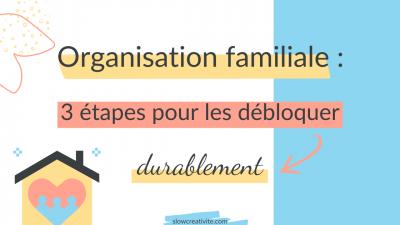 Organisation Familiale : 3 étapes pour l'améliorer