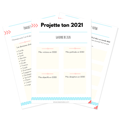 Projette ton 2021 est un défi à suivre pendant 7 jours par e-mail pour planifier son année malgré les incertitudes sur slowcreativite.com